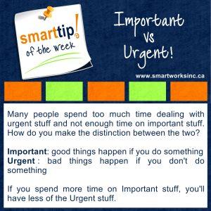 Important vs Urgent!