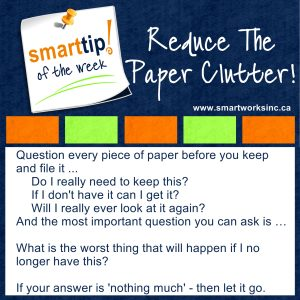 Reduce The Paper Clutter!